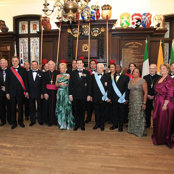 Dîner de gala de l'Ordre Constantinien pour Londre 2012