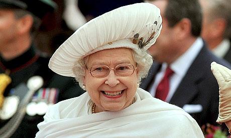 Britain's Queen Elizabeth smiling
