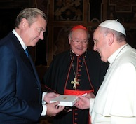 Le Duc et la Duchesse de Castro reçus par le Pape François