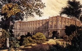 Veduta del Palazzo di Capodimonte dal Parco Antonio Giuli