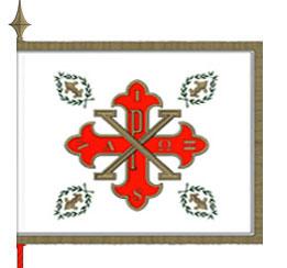 La Bandiera del Gran Magistero del Sacro Militare Ordine Costantiniano di San Giorgio