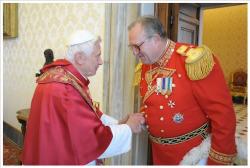 Il 79º Principe e Gran Maestro, Sua Altezza Eminentissima Frà Matthew Festing