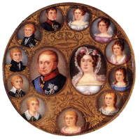 Francis I of Bourbon and his family