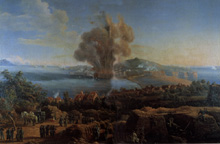 The explosion of the powder magazine of Gaeta