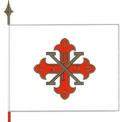 La Bandiera del Sacro Militare Ordine Costantiniano di San Giorgio