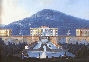 The Royal Palace in a pictorial representation of the 18th century