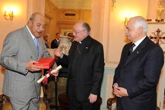 S.M. il Re di Tonga riceve il Real Ordine di Francesco I