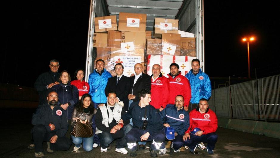 Aiuti umanitari dell'Ordine Costantiniano a Lampedusa