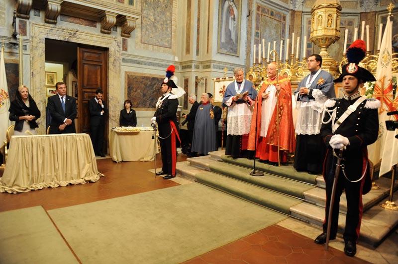 Cerimonia di investitura di neo Cavalieri e Dame Costantiniani