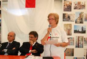 Donación de los bienes de primera necesidad para los pueblos del terremoto en Abruzo