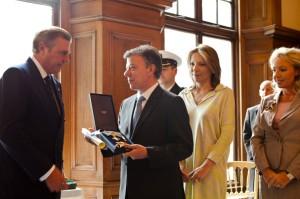 Le président colombien honoré par Ordre Constantinien