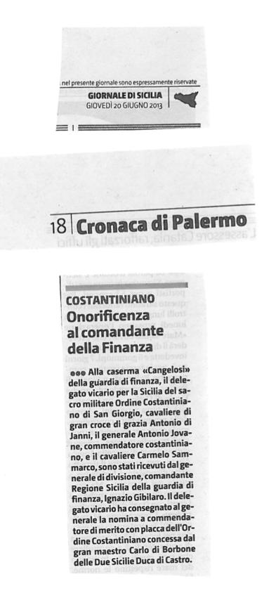 Giornale di Sicilia – 20 giugno 2013