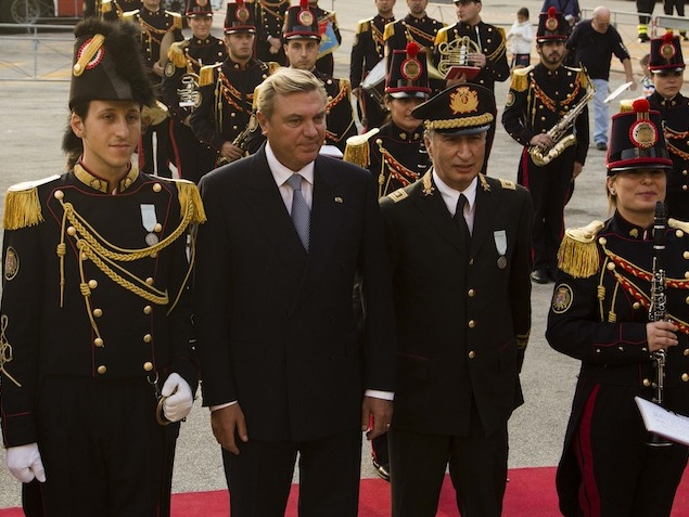 HRH Prince Charles of Bourbon visits Naples