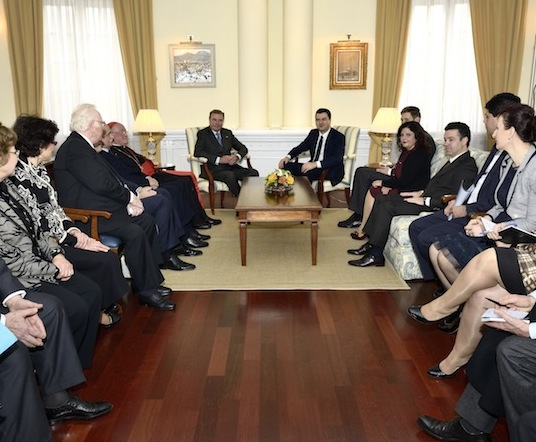 Constantinian Grand Master and Grand Prior visit Albania