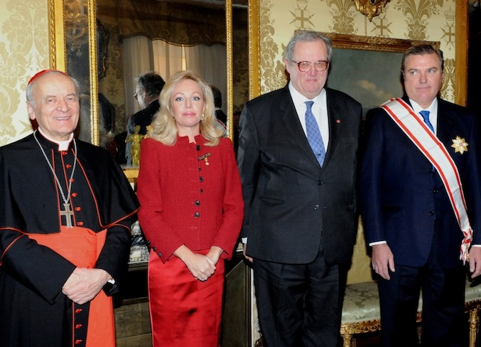Constantinian Order Grand Master honoured by the Order of Malta