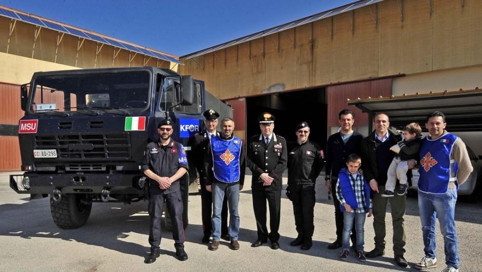 Domenica 30 marzo 2014: Missione Umanitaria Pro Kosovo, partito il primo convoglio di aiuti umanitari