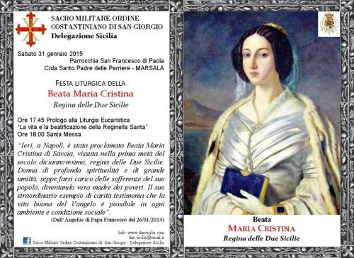 31gen2015 invito beata maria cristina regina delle due sicilie