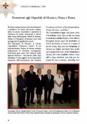 Donazione ospedali Monaco, Nizza, Roma