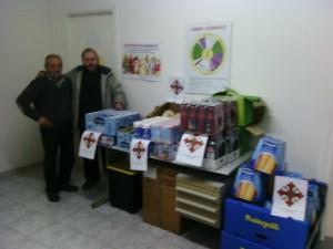 donazione viveri nel sud Lazio e distribuzione