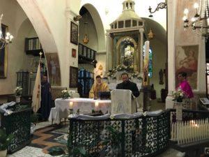 Il Delegato Vicario per la città di Roma legge il messaggio di benedizione e saluto del Gran Priore