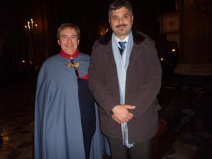 Dott. Luigi Andreozzi, Commendatore di Merito e dott. Salvatore Lanza di Brolo, Segretario Generale Movimento Neoborbonico