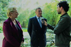 Le Loro Altezze Reali durante l'intervista presso l'Orto Botanico