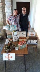 Corrado Milintenda e Rocco Bencivenga presso il Convento dei Cappuccini di Porto Maurizio