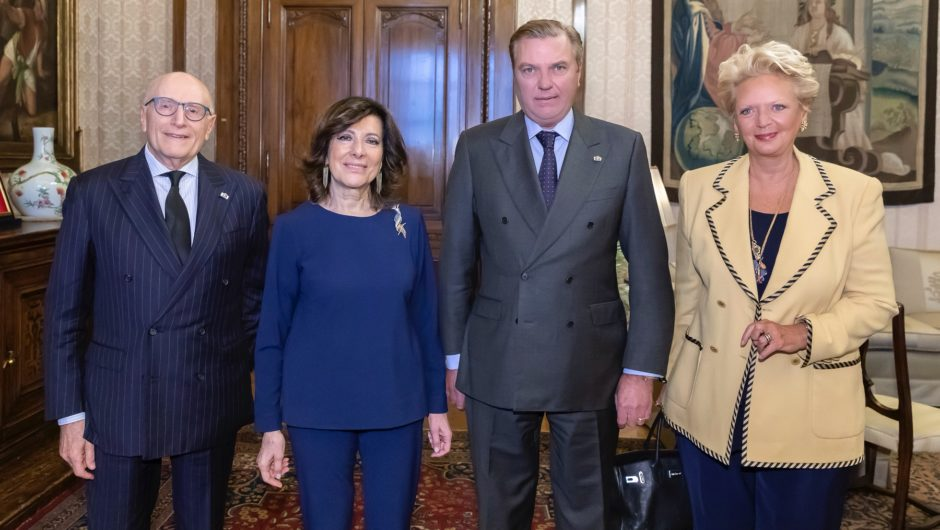 HRH Prince Charles of Bourbon Two Sicilies, Duke of Castro and Head of the Royal House conferred the insigna as Dame Grand Cross of Grace to the President of the Senate of the Republic, Maria Elisabetta Alberti Casellati