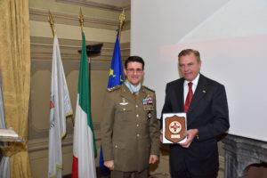Exchange of presents between HRH the Grand Master and General Francesco Diella