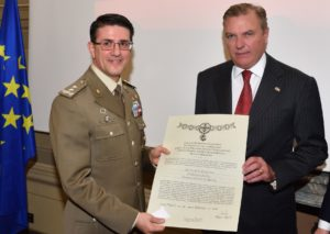HRH the Duke of Castro and General Francesco Diella, Director of the Military Policlinic of Rome