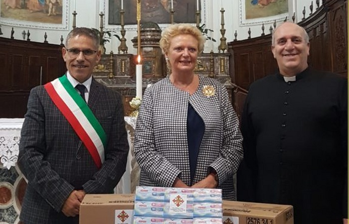 SICILY: H.R.H. THE GRAND PREFECT VISITS S.CATERINA VILLARMOSA