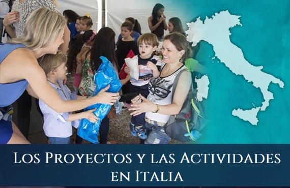 Sagrada Orden Militar y Constantiniana de San Jorge - Los Proyectos y las Actividades en Italia