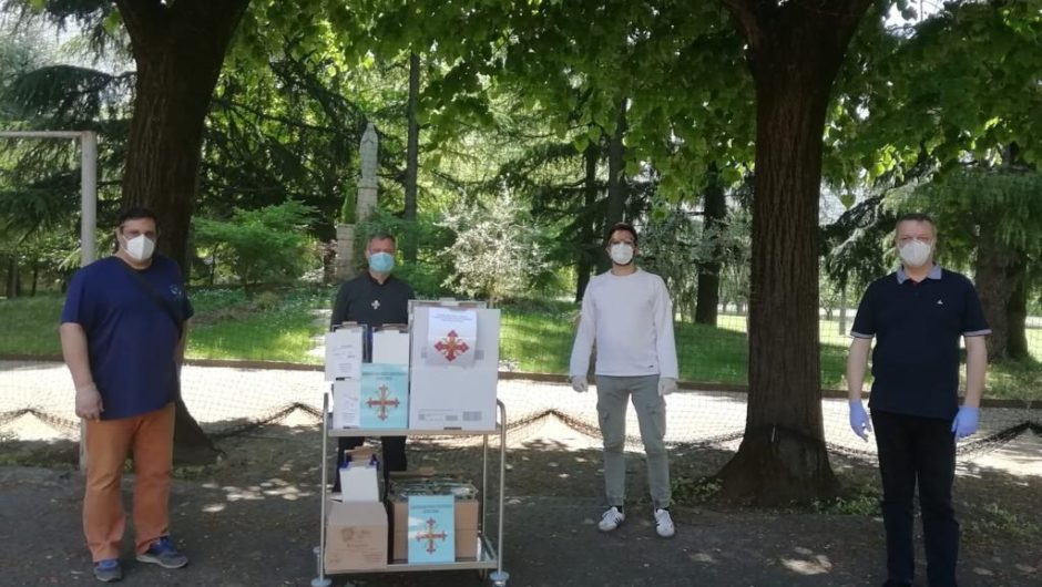 LOMBARDY: DONATION OF FOOD IN BRESCIA