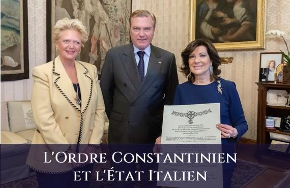 Ordre Sacre et Militaire Constantinien de Saint-Georges et l'État Italien