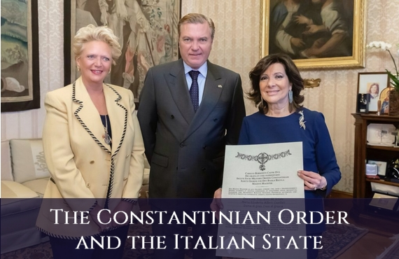 Sacred Military Constantinian Order of Saint George and Italian State